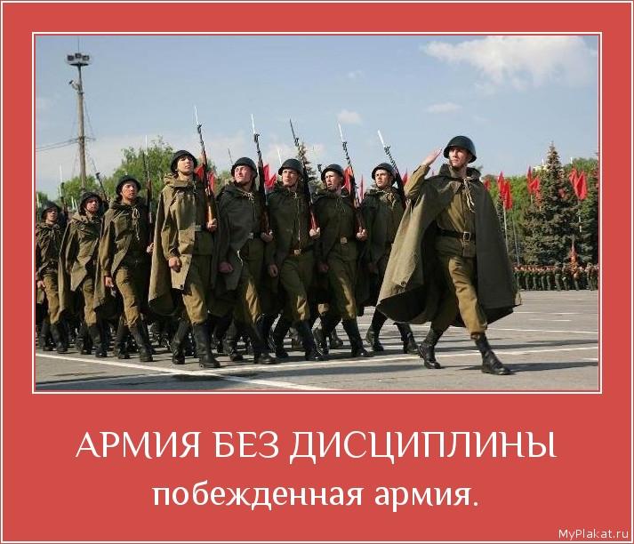 АРМИЯ БЕЗ ДИСЦИПЛИНЫ побёжденная армия.
