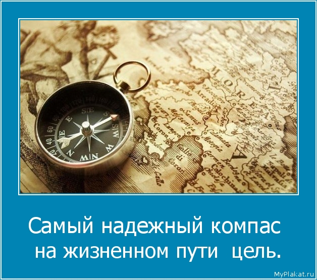 Самый надежный компас  на жизненном пути  цель.
