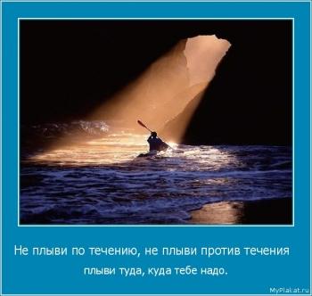 Не плыви по течению, не плыви против течения