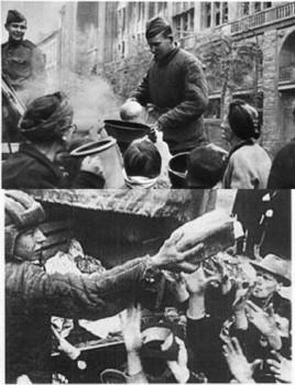 """БЕРЛИН 1945 - """"оккупанты издеваются над голодными людьми"""""""