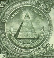 """ВСЕВИДЯЩЕЕ ОКО """"НЕ ИНАЧЕ"""" КАК БОГ. - 13 уровней пирамиды - это """"конечно же"""", изначальное число  штатов."""