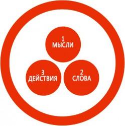 ПОМНИ ЗАКОН ПРИЧИННО-СЛЕДСТВЕННОЙ СВЯЗИ: - МЫСЛИ-СЛОВА-ДЕЙСТВИЯ не должны противоречить друг другу