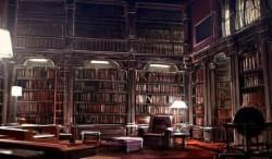 У богатых людей большая библиотека. -  У бедных - большой телевизор.